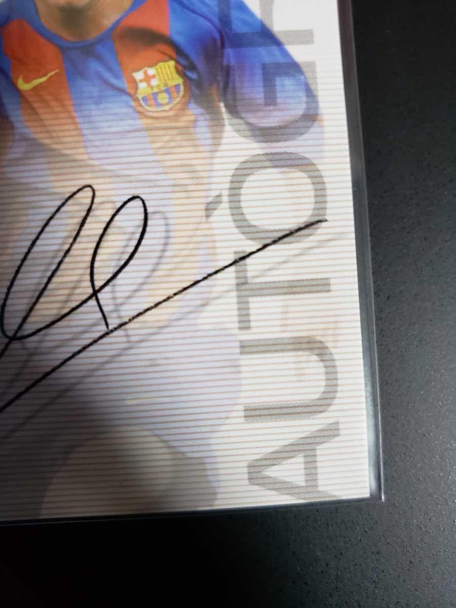 高騰中【Rookie Card】メッシ プリントサイン Panini 2005 Barca Lionel Messi 2004-2005バルセロナ 優勝記念 アルゼンチン_画像5