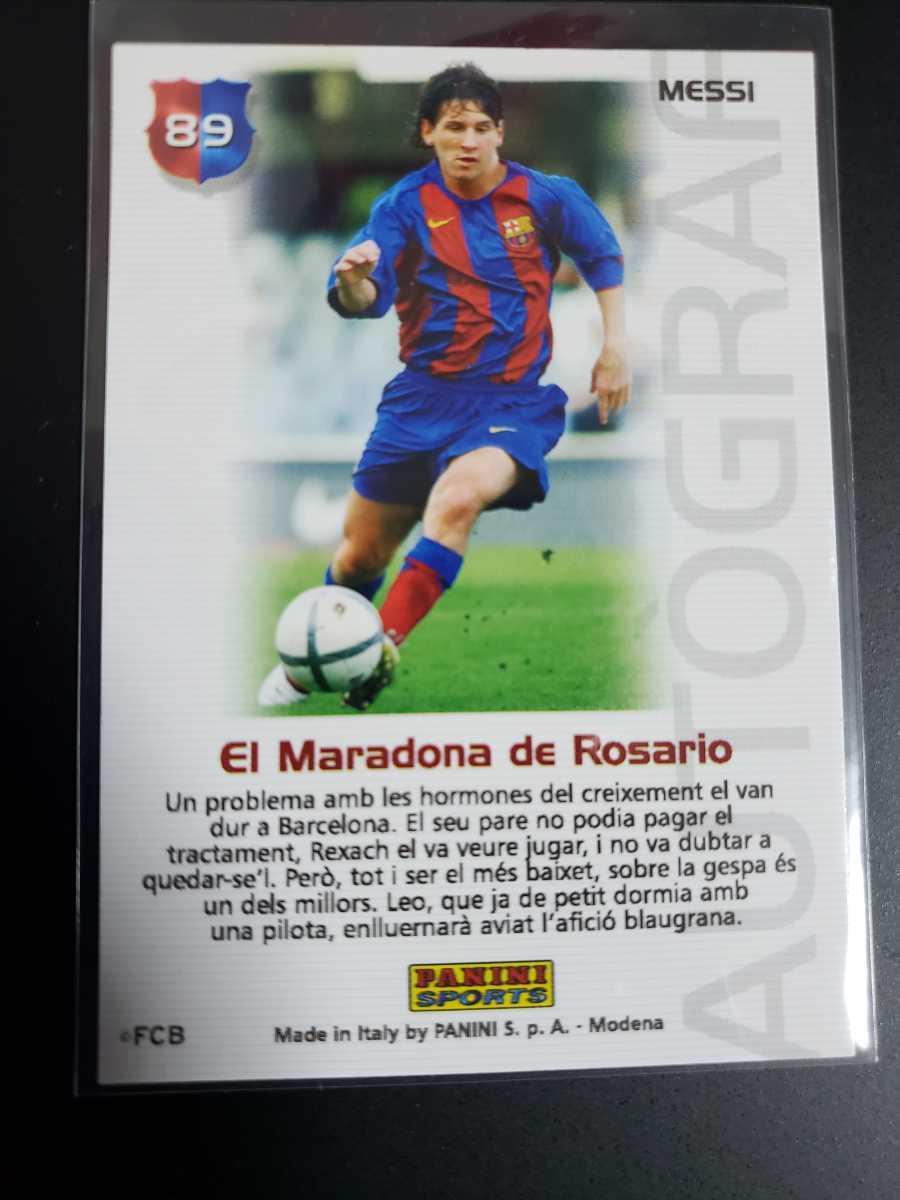 高騰中【Rookie Card】メッシ プリントサイン Panini 2005 Barca Lionel Messi 2004-2005バルセロナ 優勝記念 アルゼンチン_画像6