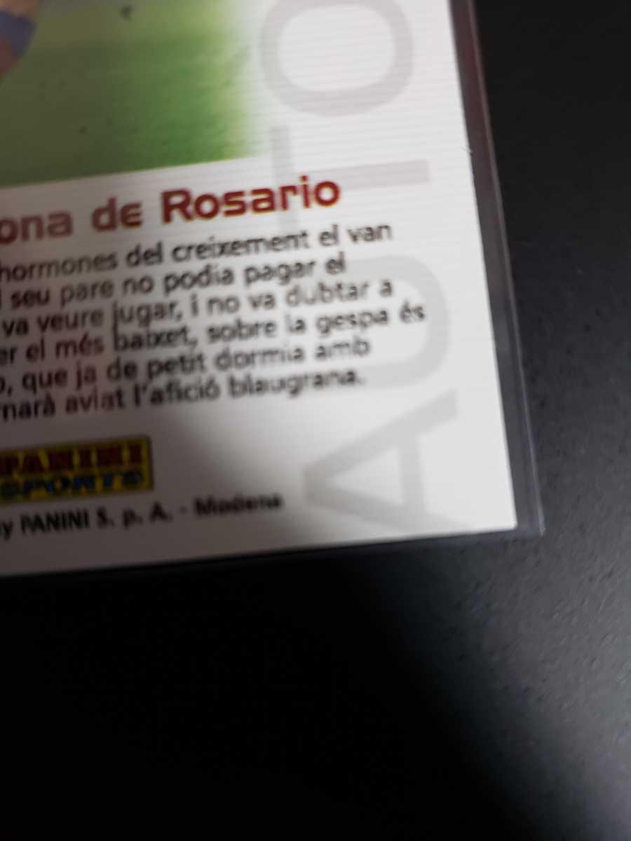 高騰中【Rookie Card】メッシ プリントサイン Panini 2005 Barca Lionel Messi 2004-2005バルセロナ 優勝記念 アルゼンチン_画像8