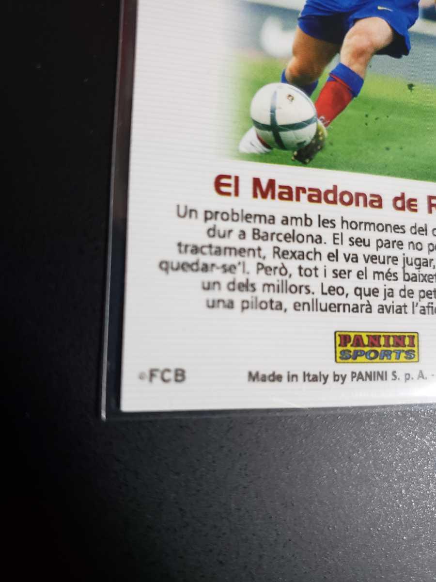 高騰中【Rookie Card】メッシ プリントサイン Panini 2005 Barca Lionel Messi 2004-2005バルセロナ 優勝記念 アルゼンチン_画像7