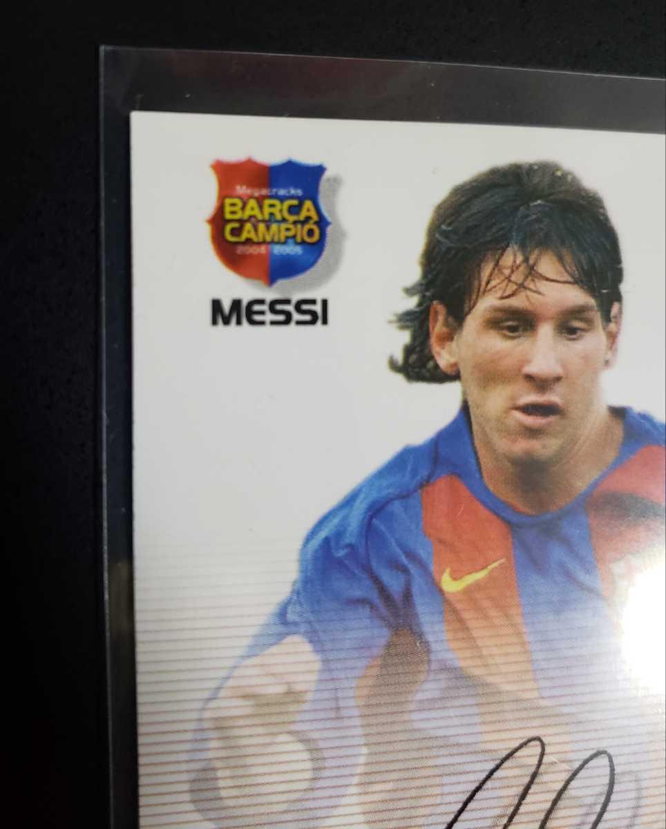 高騰中【Rookie Card】メッシ プリントサイン Panini 2005 Barca Lionel Messi 2004-2005バルセロナ 優勝記念 アルゼンチン_画像3