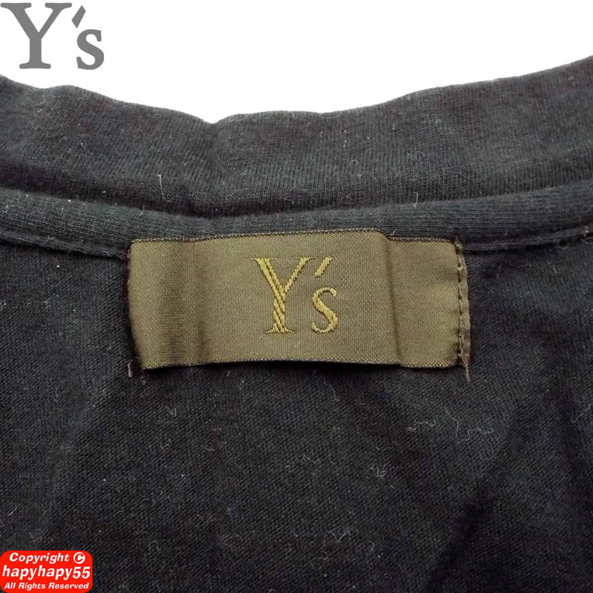 オールドヨウジ■Y's 二重襟ノースリーブカットソー◆変形 YohjiYamamoto ヨウジヤマモトGround'Y-3s'yte ワイズグランドワイスリーサイト_画像9