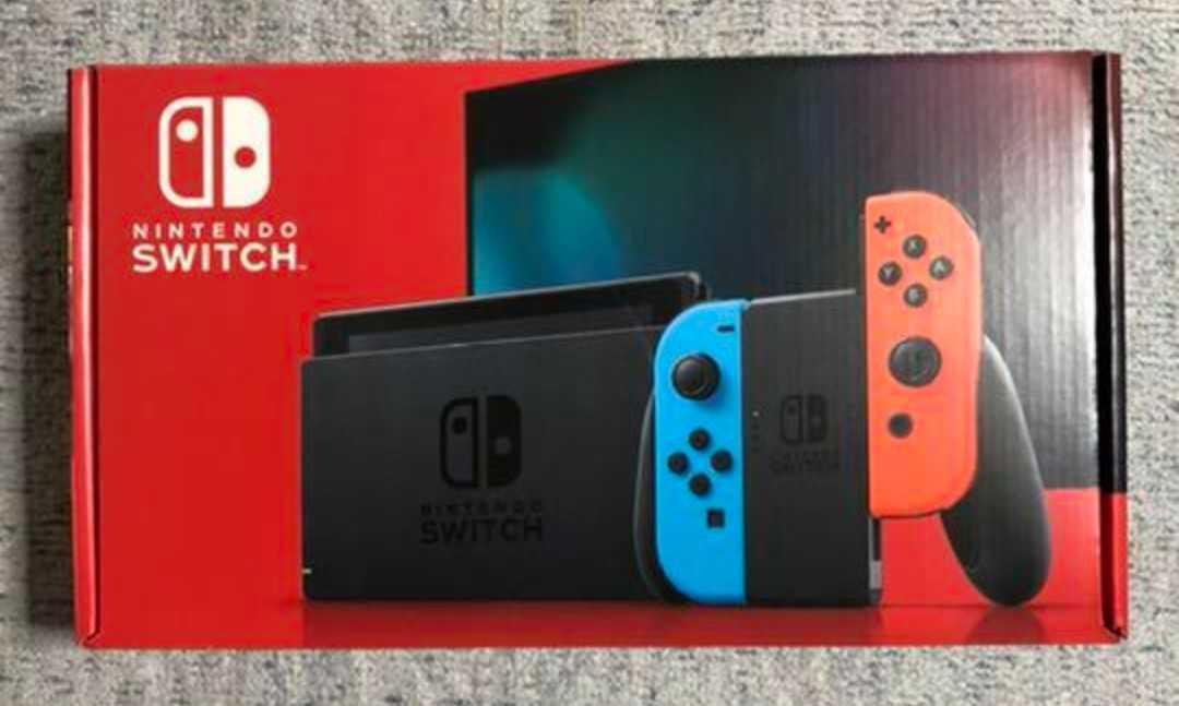 1円スタート!【新モデル!新品未開封!保証印なし】Nintendo Switch 本体 ニンテンドースイッチ【Joy-Conネオンブルー/ネオンレッド】
