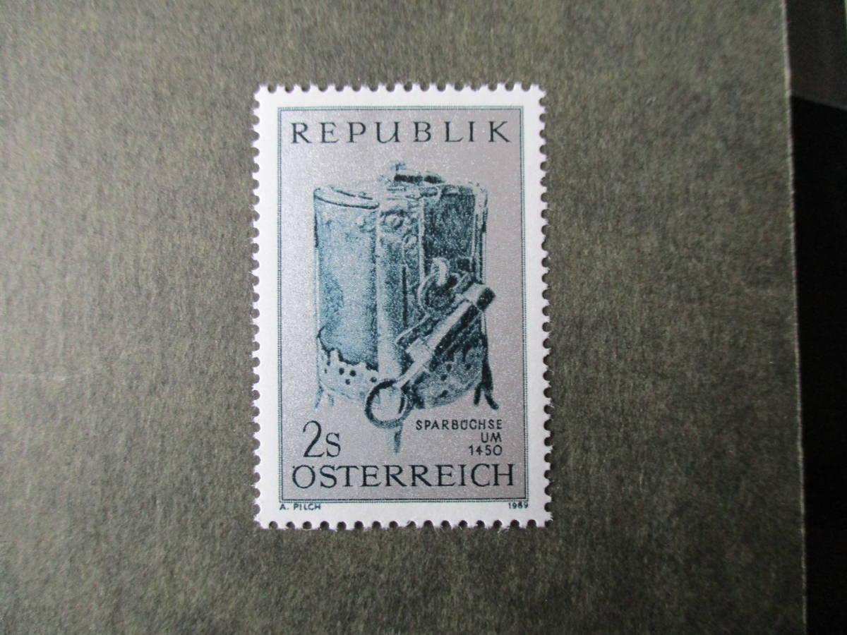貯蓄キャンペーンー15世紀の瀬戸物の貯金箱 1種完 未使用 1969年 オーストリア共和国 VF/NH_画像1