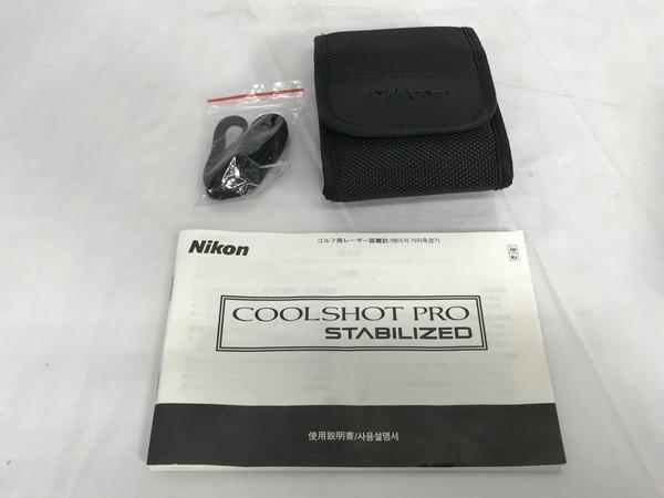 Nikon COOLSHOT PRO STABILIZED ゴルフ用 レーザー 距離計 クールショットプロ ニコン 中古 S5472664_画像2