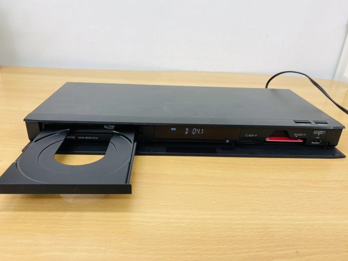 通電確認 パナソニック Panasonic HDD/BDレコーダー DMR-BRW1010 2016年製 リモコン B-CASカード付き 2番組同時録画_画像4