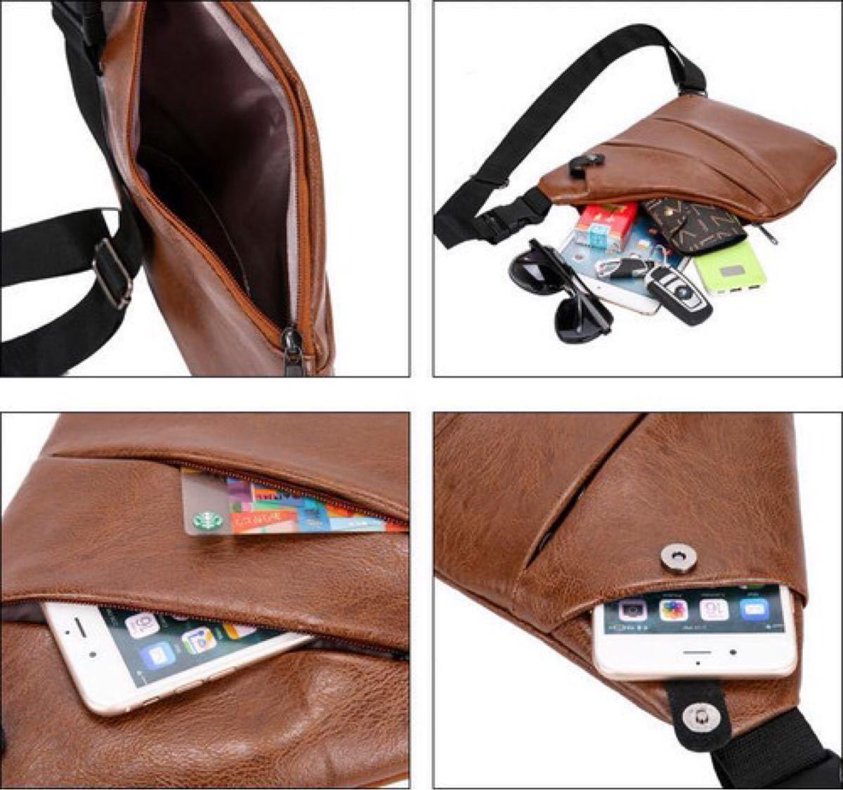 ボディバッグ ボディーバッグ ショルダーバッグ メンズ ブラック 小物 鞄 ポケット 高品質 斜め掛け 斜め掛けバッグメンズボデイ