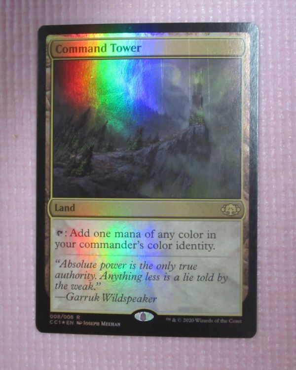 mtg foil 英語版 CC1 統率の塔/Command Tower 1枚まで 即決_画像1