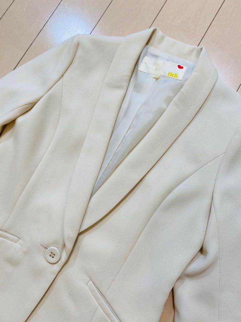 テーラードジャケット S オフィスカジュアル 冠婚葬祭 フォーマル 入学式 卒業式 ノーカラージャケット ジャケット パーティー 謝恩会