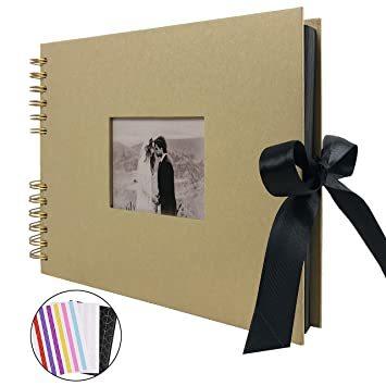 イエロー フォトアルバム 手作りアルバム 黒台紙写真集 フォトフレームブック 結婚式のスクラップブック DIY プレ_画像1