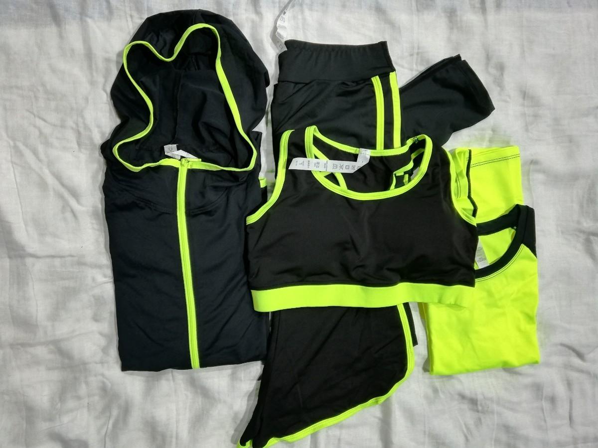 スポーツウェア 5点セット トレーニング ランニング ヨガ  Mサイズ ヨガウェア トレーニングウェア