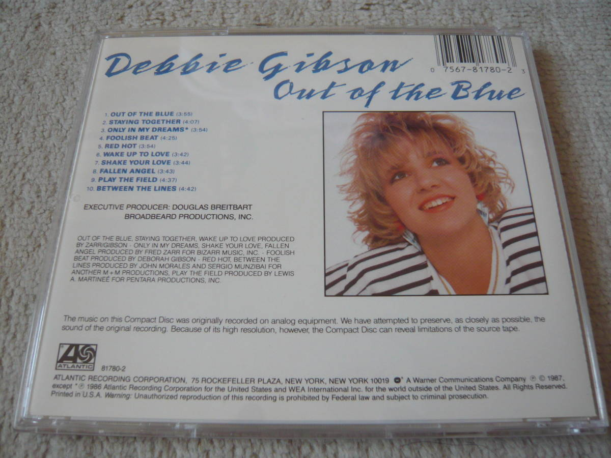CD Debbie Gibson / Out Of The Blue デビー・ギブソン US盤