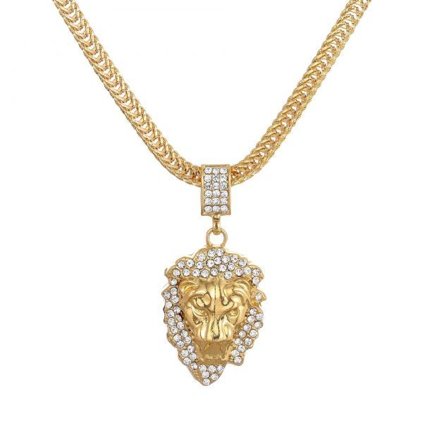 HIPHOP★ライオンの頭 ネックレス ペンダント メンズ ダイヤモンド ダイヤ嵌める 贅沢 男性用 アクセサリー ギフト アメカジ ゴールド_画像6