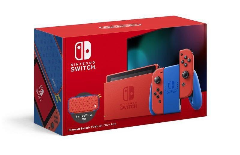 新品 Nintendo Switch 本体 マリオレッド×ブルーセット