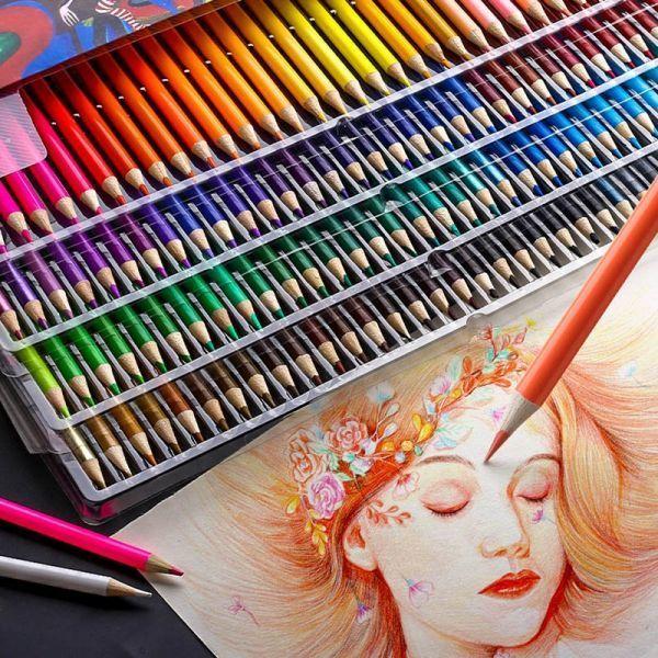 色鉛筆 160カラー 芸術 ぬりえ 工作 美術 絵 イラスト_画像4