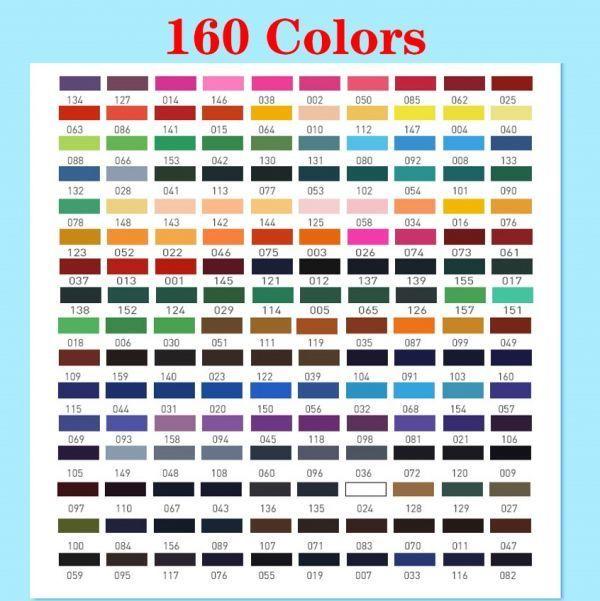 色鉛筆 160カラー 芸術 ぬりえ 工作 美術 絵 イラスト_画像3