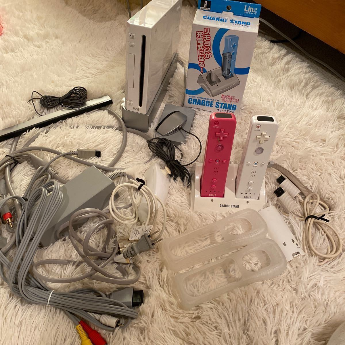 任天堂 ニンテンドー Wii セット ヌンチャク リモコン マイク 本体  ACアダプター  センサーバー ソフトセット