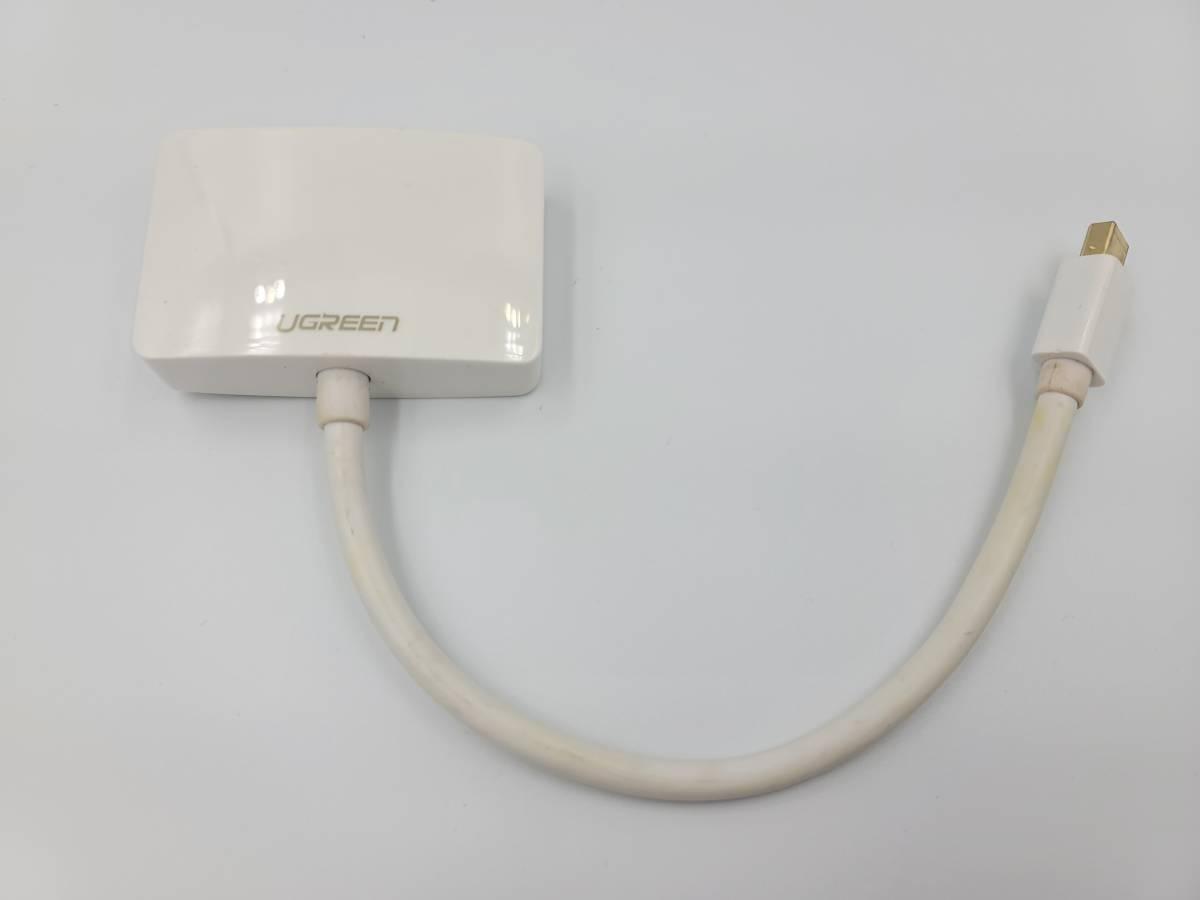 【変換アダプタ 中古】UGREEN 4K*2K Mini Displayport 変換アダプタ Mini DP to HDMI VGA 変換 MacBook Pro 対応