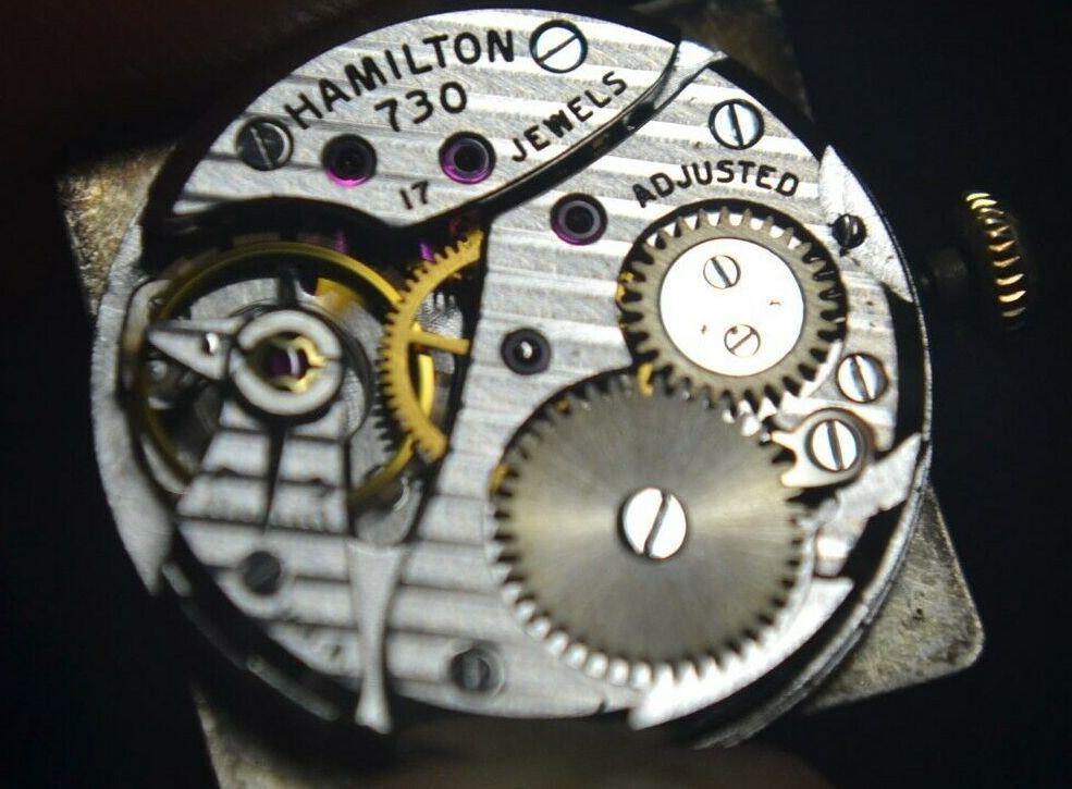 【1円スタート】/ハミルトン◎/HAMILTON/10KGF/金張り/ゴールド 手巻き/Cal.730/メンズ腕時計/60's USA/アンティーク/アメリカ/専用箱付_画像10