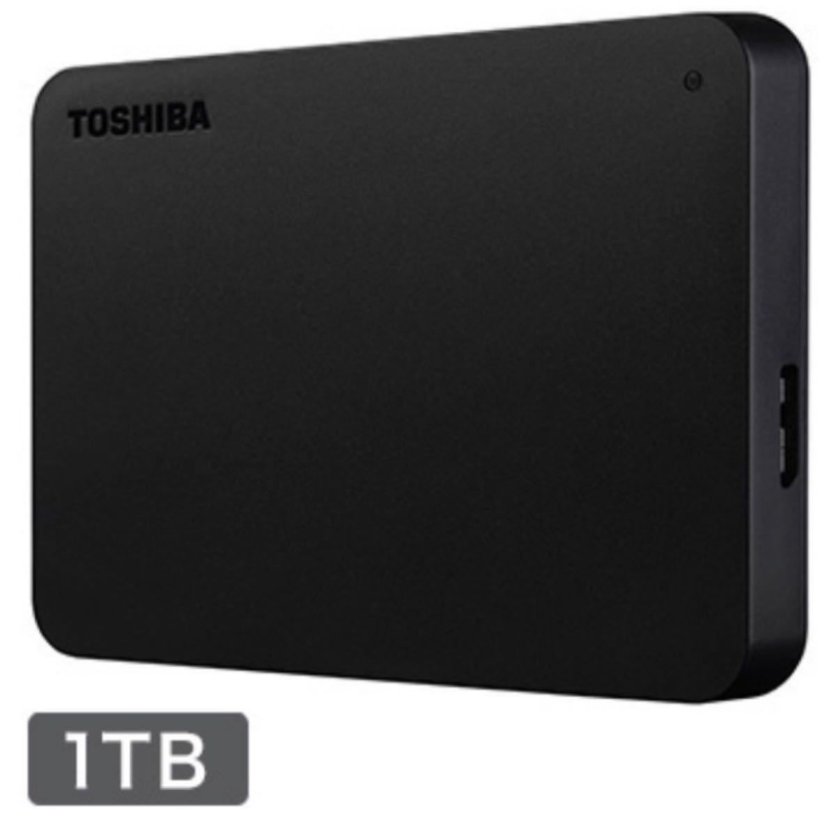 TOSHIBA 外付け ポータブルハードディスク 1TB ブラック HDAD10AK3-FP 東芝