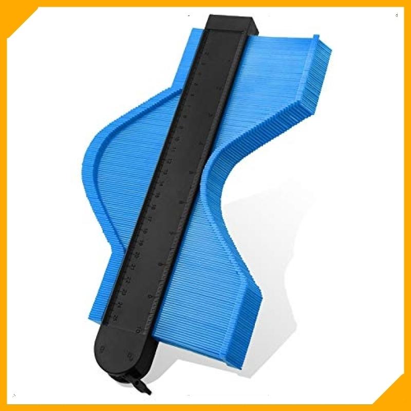 J28.1~残りわずか~色青い 型取りゲージ, コンターゲージ最新の拡張バージョンストッパー付 測量工具 曲線定規 不規則な測定器_画像1