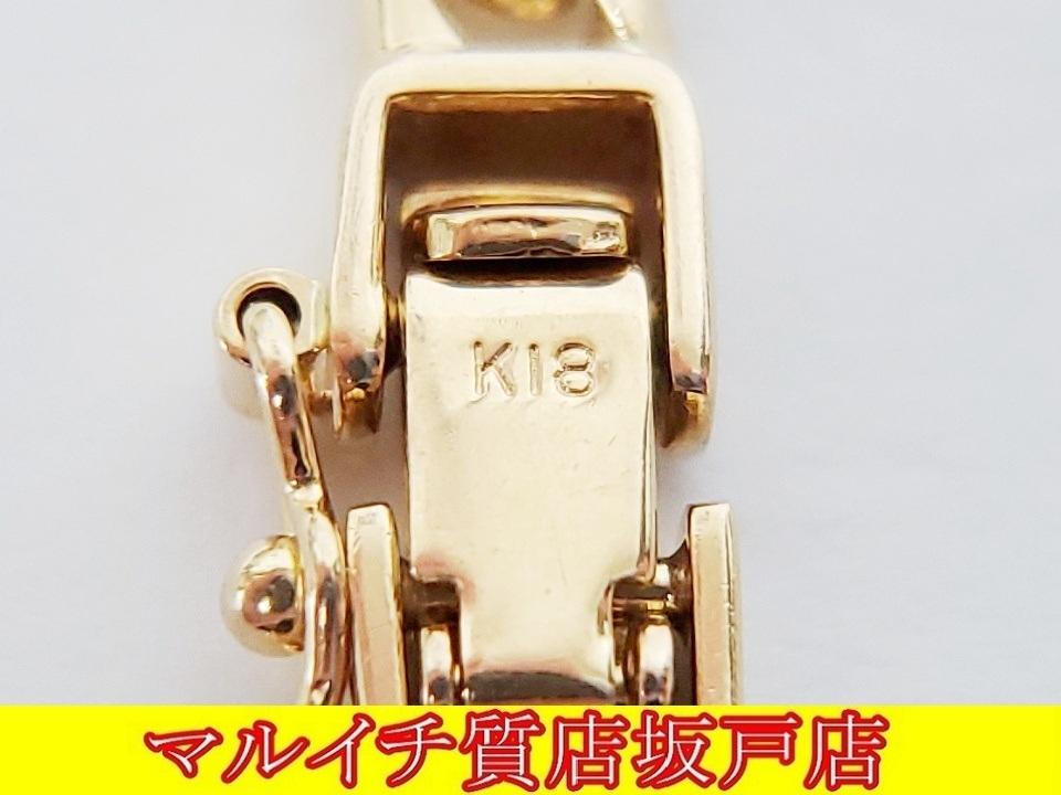 k18イエローゴールド 6面ダブル喜平ネックレス 50cm 30.2g_画像5