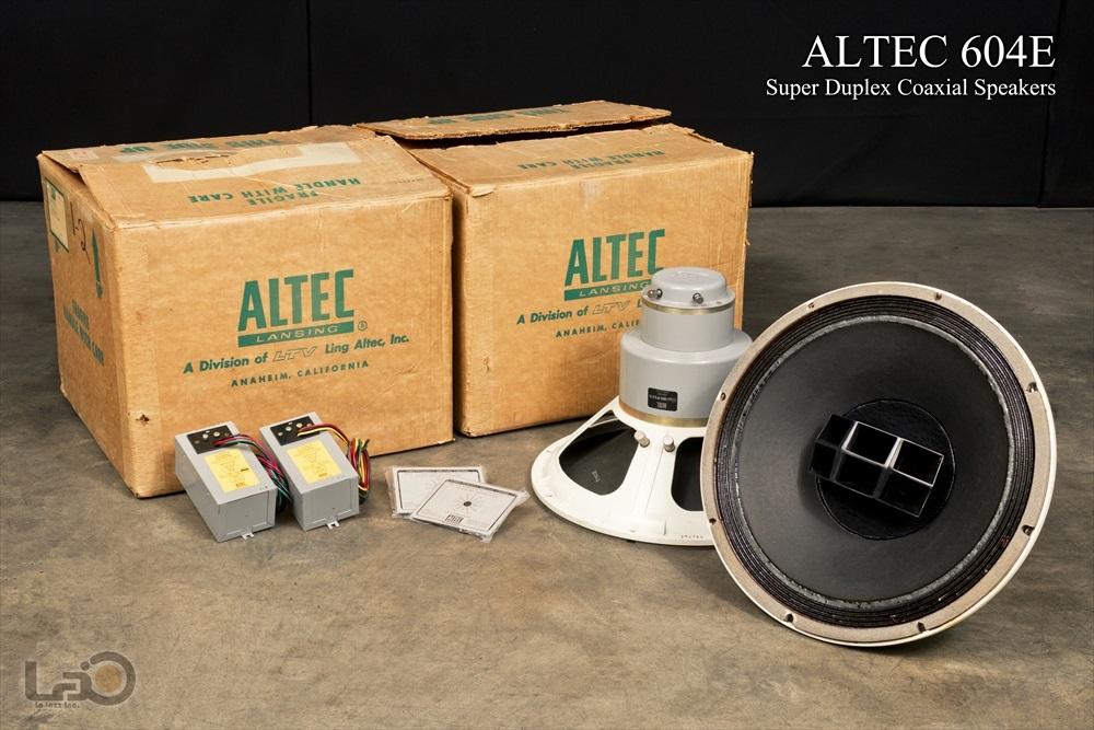 ALTEC アルテック 604E 同軸ユニット + オリジナル元箱付き ペア NOS?