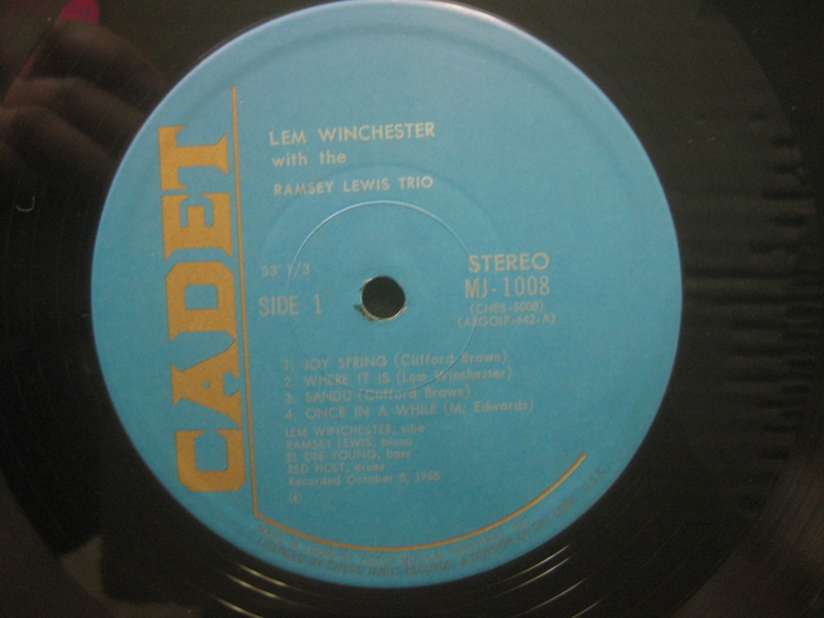 Lem Winchester And The Ramsey Lewis Trio / Perform A Tribute To Clifford Brown ◆LP3575NO OBRP◆LP_画像4