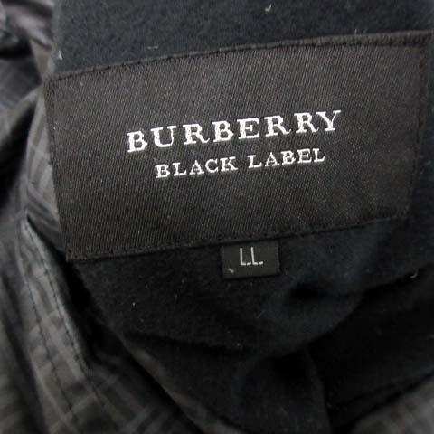 バーバリーブラックレーベル BURBERRY BLACK LABEL LL ダウンジャケット リバーシブル アウター チェック 黒 ブラック /EK ●D_画像7