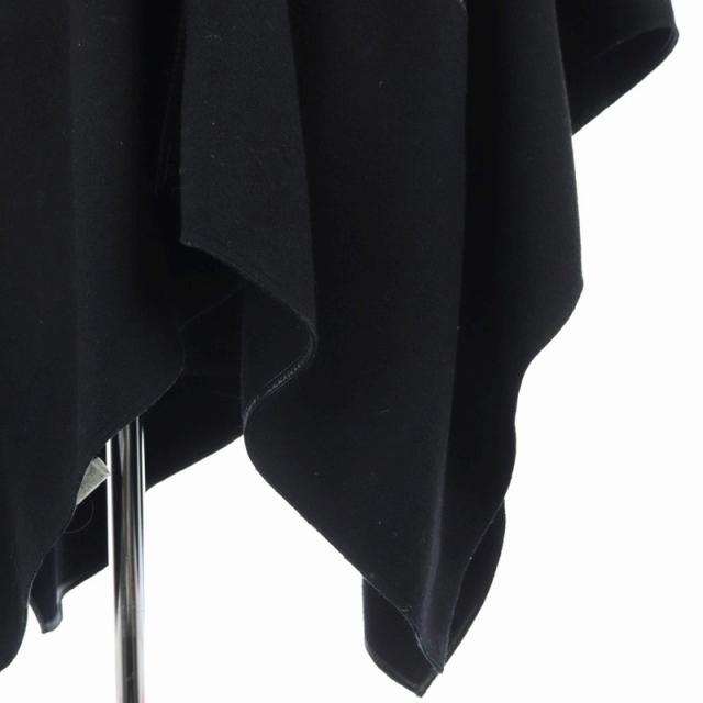 アルマーニ ジーンズ ARMANI JEANS ウールケープ コート アウター パイピング 38 黒 ブラック /HS ■OS レディース_画像3