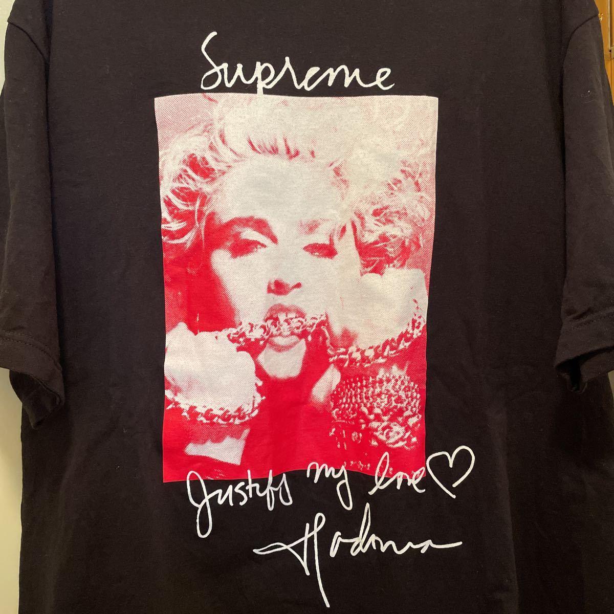 L Supreme Madonna Tee 18FW Large Black シュプリーム マドンナ Tシャツ 半袖 ブラック 黒 18AW_画像3