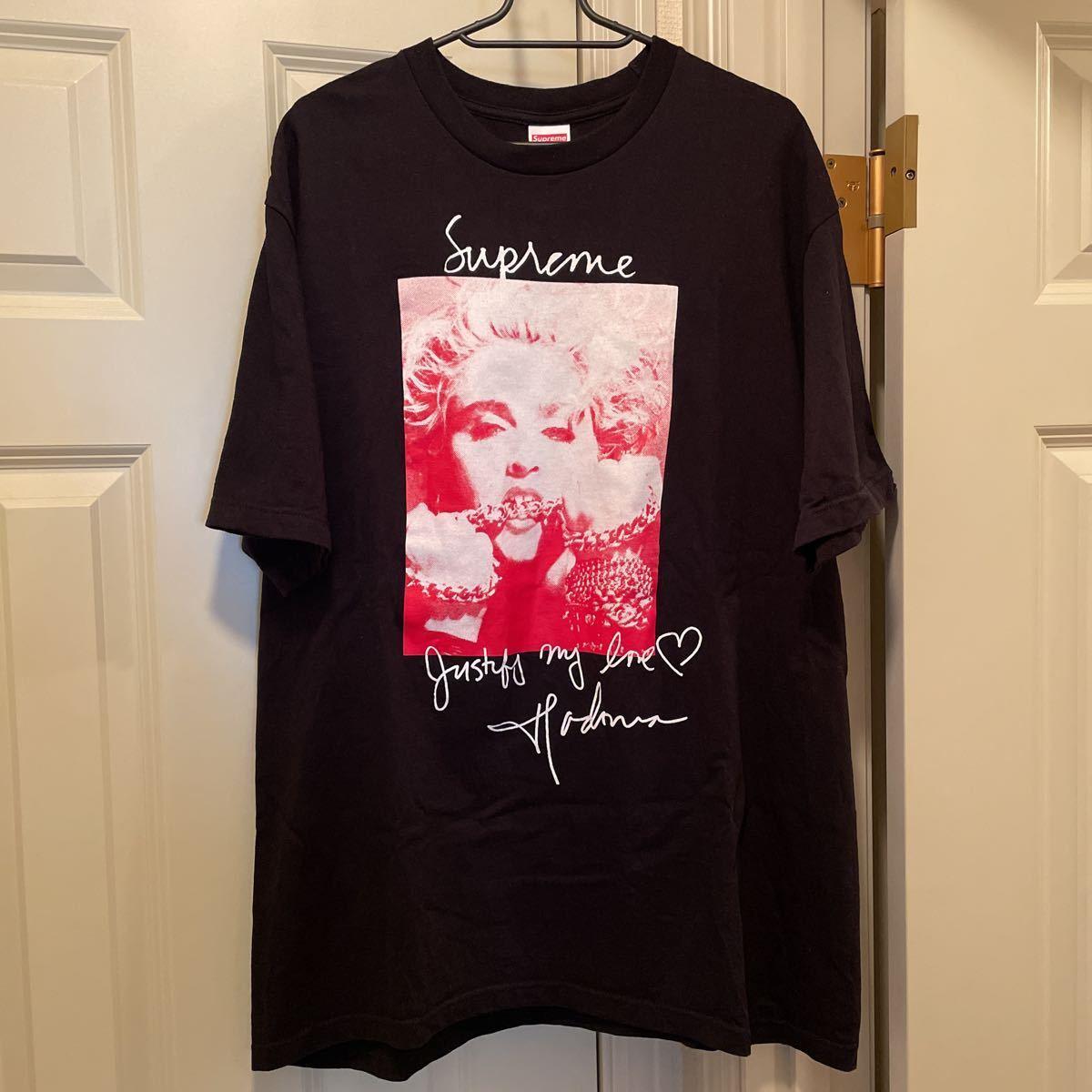 L Supreme Madonna Tee 18FW Large Black シュプリーム マドンナ Tシャツ 半袖 ブラック 黒 18AW_画像1
