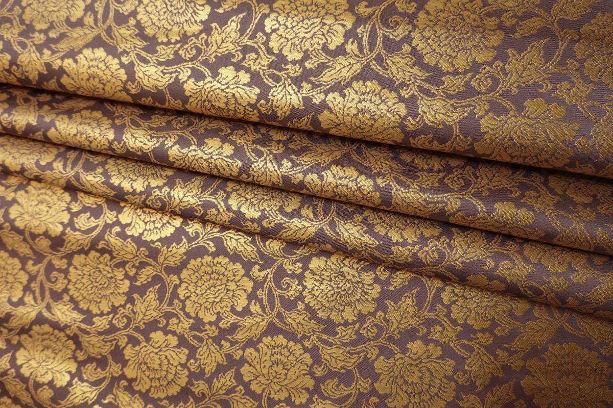 ◆六◆完全未使用品◆極上◆金襴緞子◆金糸◆反物◆74㎝×9m90㎝◆佛教法衣神職七条袈裟五条袈裟横被装束神主巫女神社寺和尚打敷表具表装_画像7