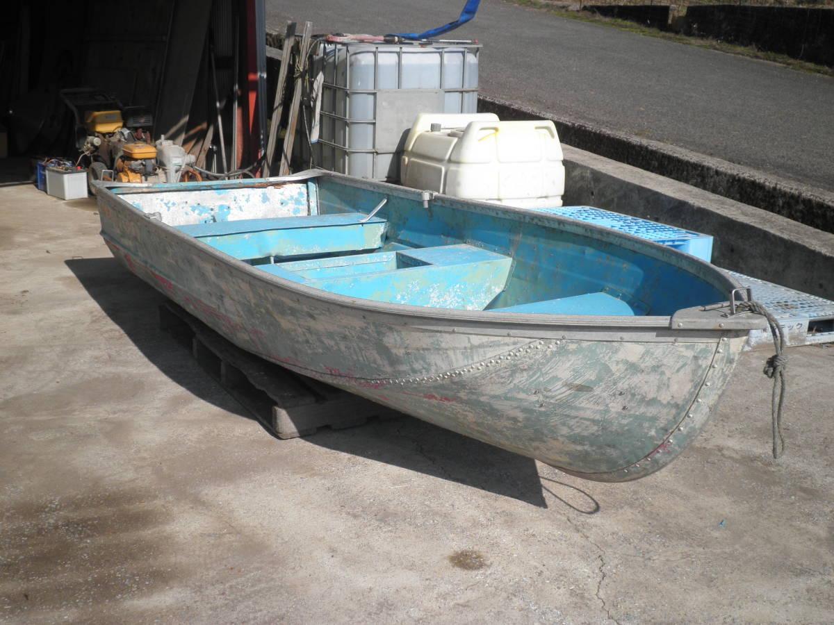 「大分県 アルミボート 12フィート 補修前提として購入下さい。引取限定」の画像2