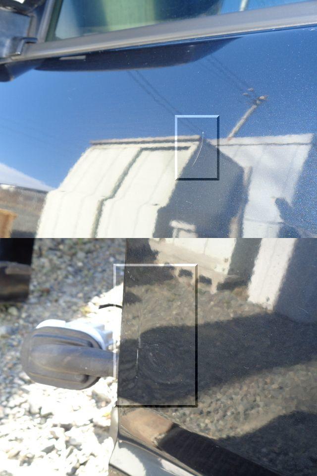 ★スズキ ワゴンR DBA-MH22S 左フロントドア 電動格納式ドアミラー付き 【黒/ZJ3】★_画像6