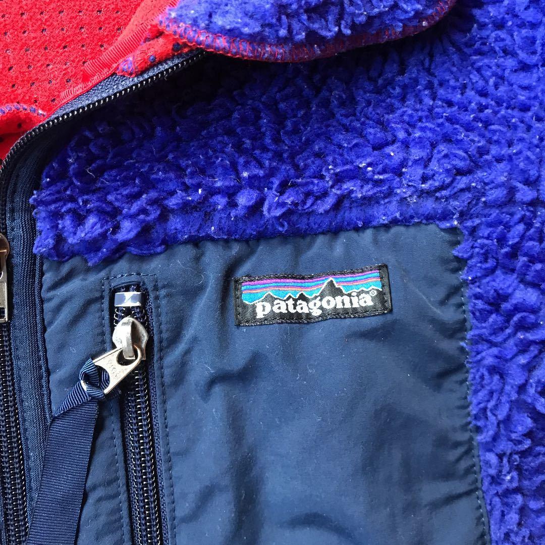 USA Patagonia レトロX ジャケット/キッズ14・青 ヴィンテージ USA製 レトロカーディガン フリース /メンズS~M・レディースM~Lくらい