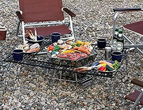 バーベキューコンロ 焚火台 ダッチオーブン 1台3役 ヘキサステンレス ファイア グリル バッグ付 キャンプ アウトドア