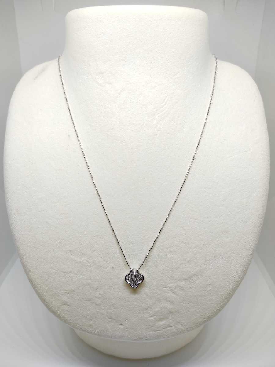 ◆新品◆ K18WG ダイヤ プチネックレス_画像2