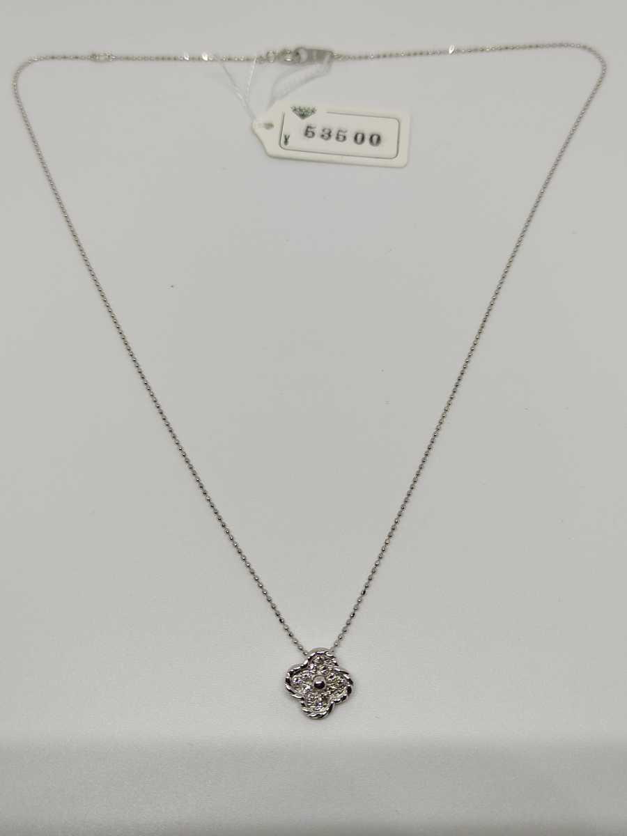◆新品◆ K18WG ダイヤ プチネックレス_画像3