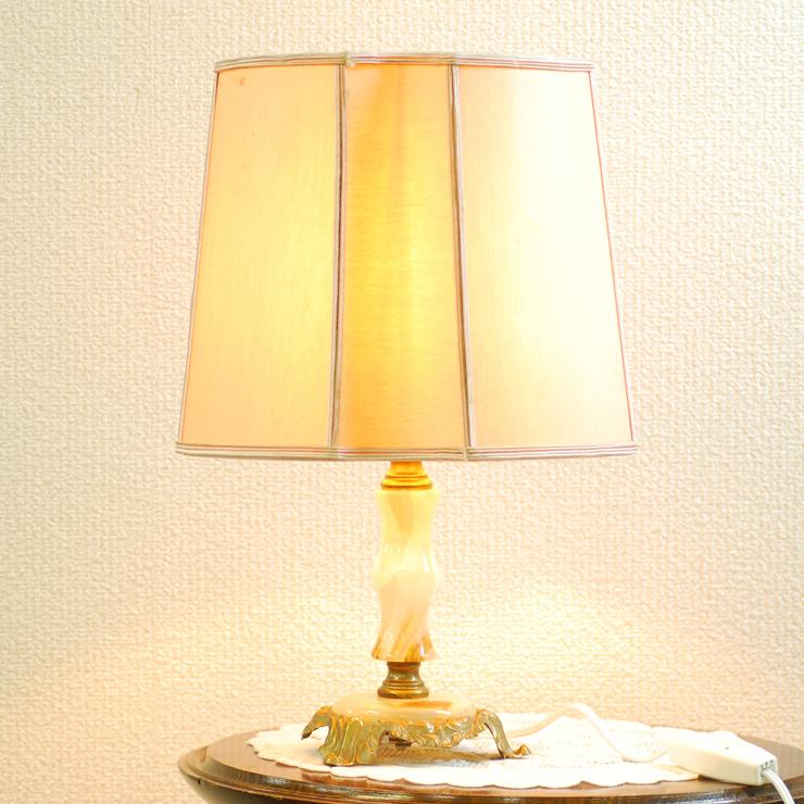 #2733bスタンド照明本物アンティーク照明1950年フランス原産テーブルランプ1灯本体オニキスPSE表示品PL保険付_画像1