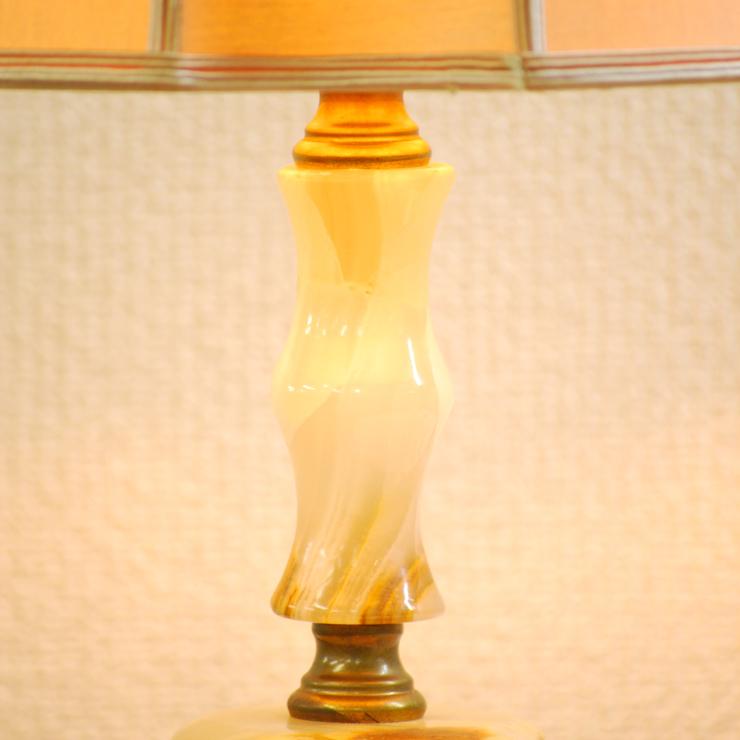 #2733bスタンド照明本物アンティーク照明1950年フランス原産テーブルランプ1灯本体オニキスPSE表示品PL保険付_画像4