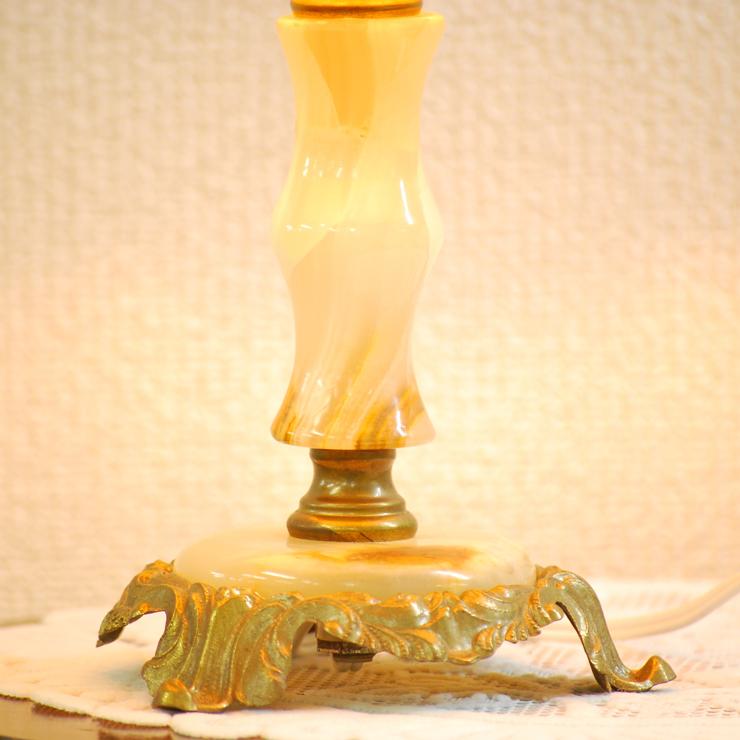 #2733bスタンド照明本物アンティーク照明1950年フランス原産テーブルランプ1灯本体オニキスPSE表示品PL保険付_画像3