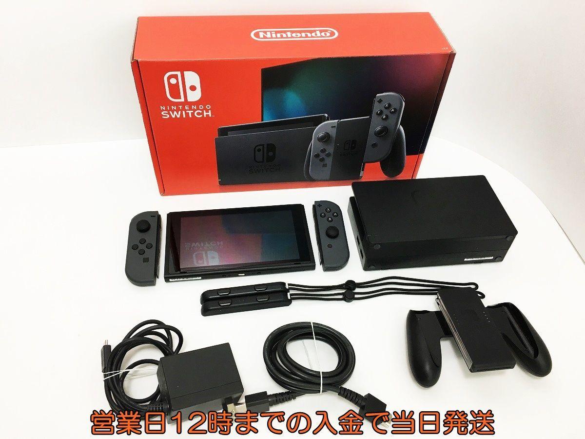 【1円】新型Nintendo Switch 本体 (ニンテンドースイッチ) Joy-Con(L)/(R) グレー 初期化・動作確認済み 1A3000-551sy/F4