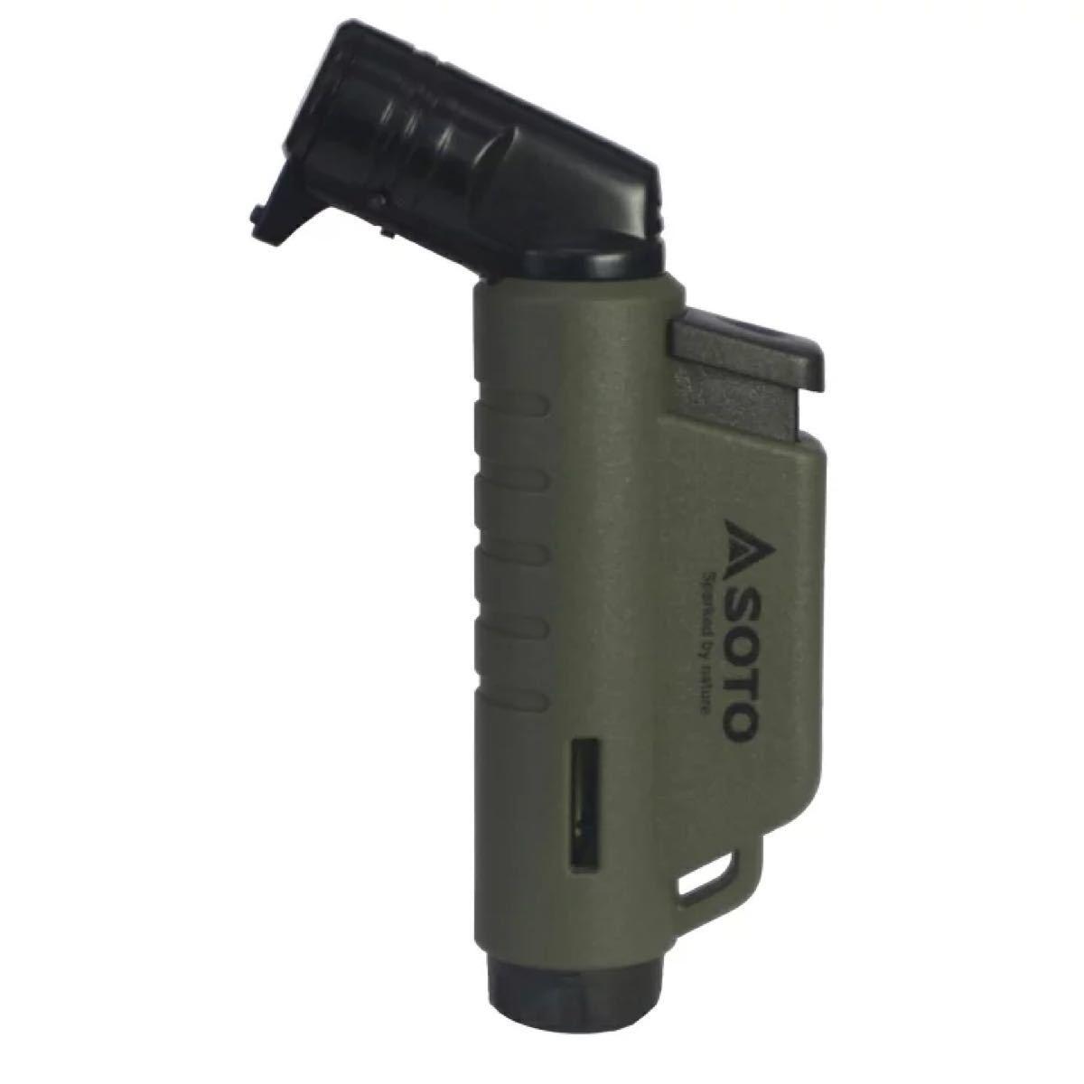 SOTO(ソト) 限定マイクロトーチ アーミーグリーン キャンプ用品 ガスバーナー ST-486AG 3個セット