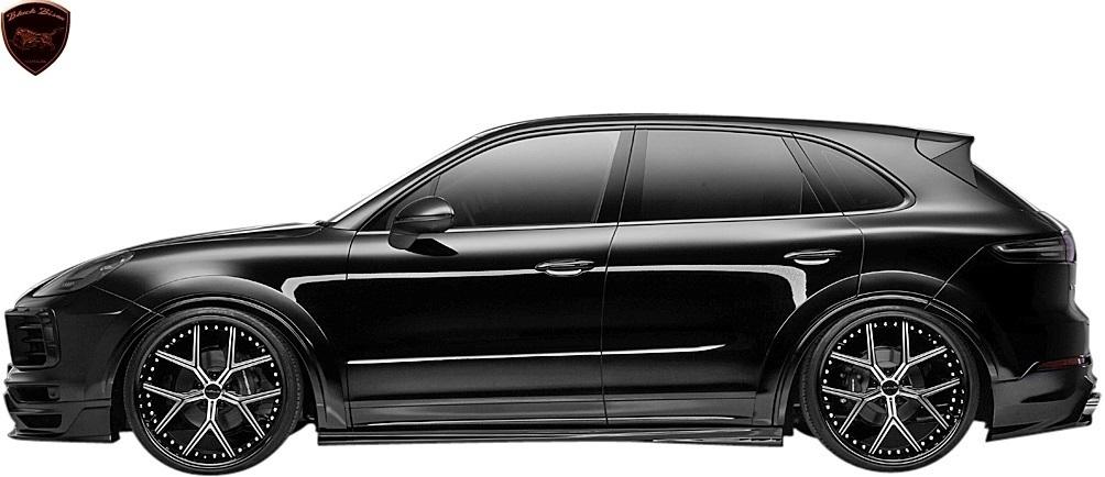 【M's】Porsche カイエン 9YA (2018y-) WALD Black Bison リアスカート//FRP製 ヴァルド バルド エアロ リヤスカート ポルシェ CAYENNE_画像4