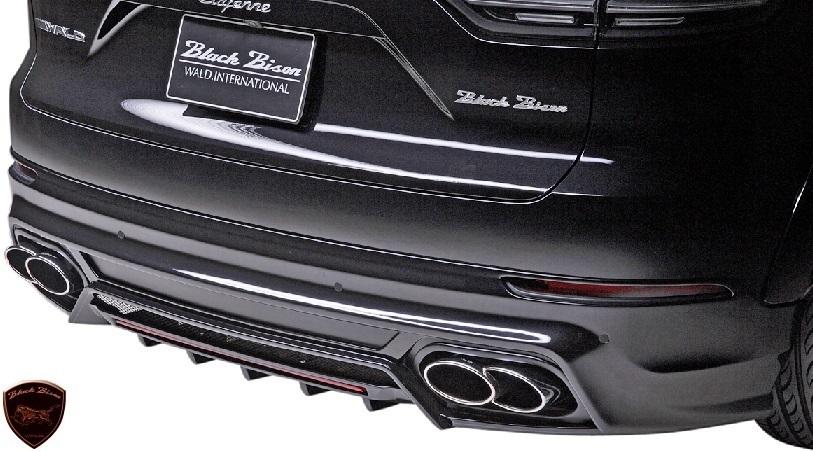 【M's】Porsche カイエン 9YA (2018y-) WALD Black Bison リアスカート//FRP製 ヴァルド バルド エアロ リヤスカート ポルシェ CAYENNE_画像1