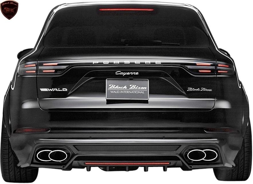 【M's】Porsche カイエン 9YA (2018y-) WALD Black Bison リアスカート//FRP製 ヴァルド バルド エアロ リヤスカート ポルシェ CAYENNE_画像2