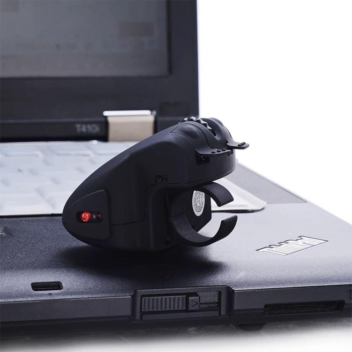 ワイヤレス指リングマウス充電式usbレーザーマウス光学式ポケットマウス
