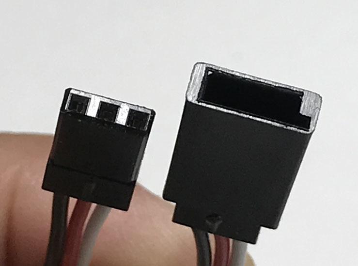 FUTABA JR 受信機用電源スイッチハーネス2個セット 充電端子付き特注品 大容量2回路2接点22AWGケーブル
