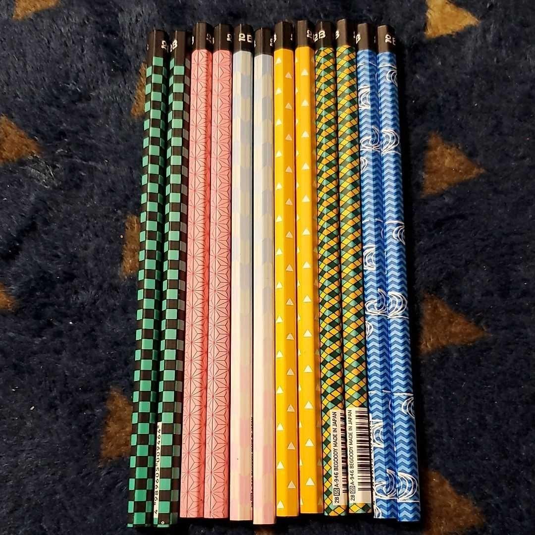 鬼滅の刃 鬼滅 和柄 鉛筆 2B 6種×12本セット